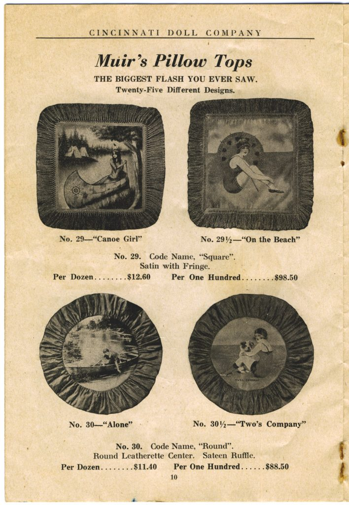 Cincinnati Doll Co. catalog, page 10