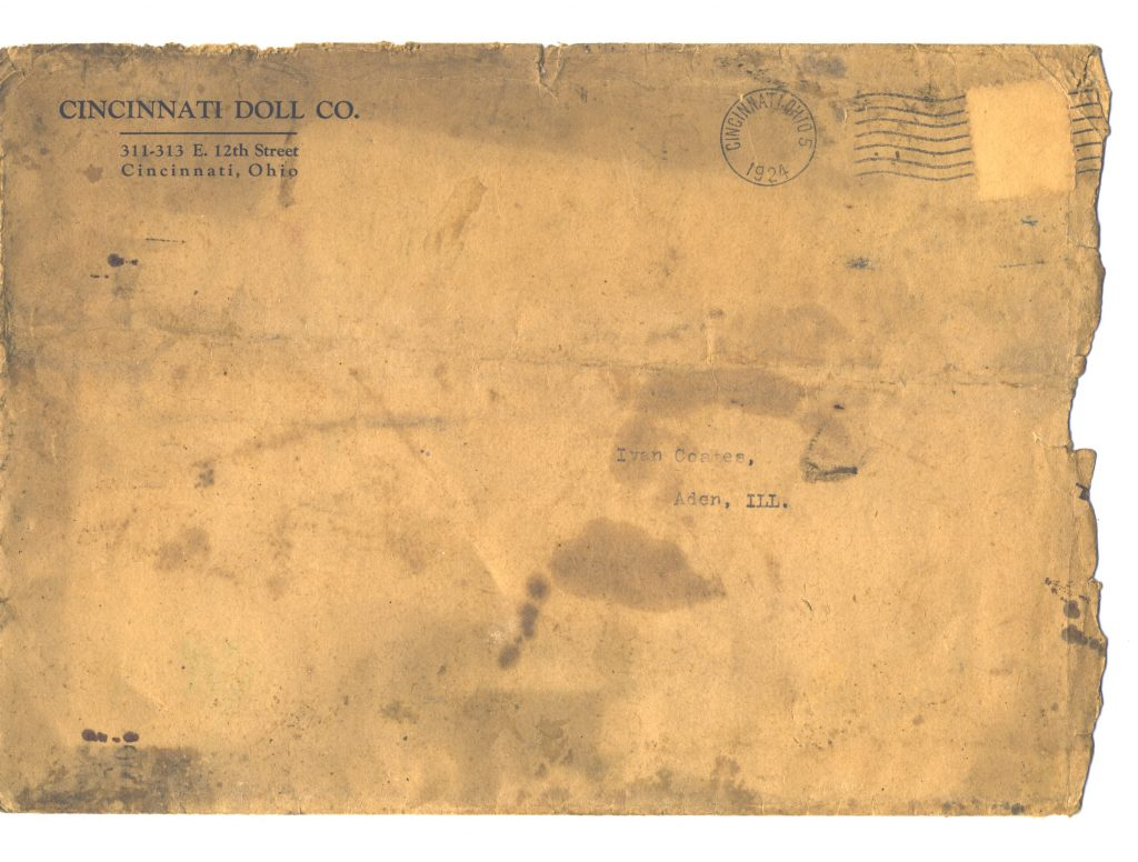Cincinnati Doll Co. catalog mailing envelope