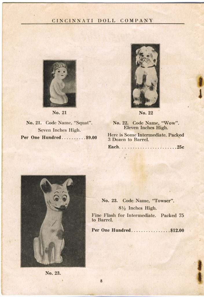 Cincinnati Doll Co. catalog, page 8