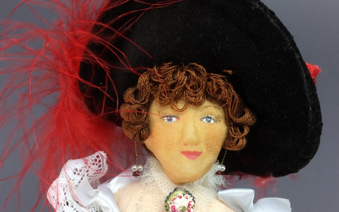 Diana, a Lady of 1830 by Doll Artist Mirren Barrie