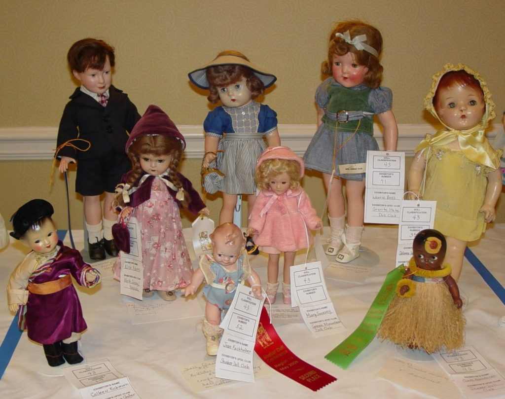 Composition dolls by various makers